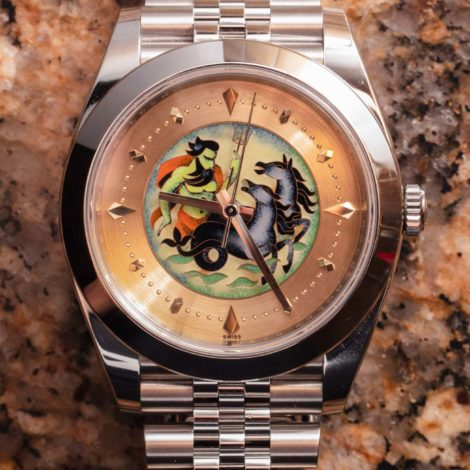 Cheap Replica Modified Datejust 41 Watch Celebrates Rolex Cloisonne Enamel Dials Of The Past